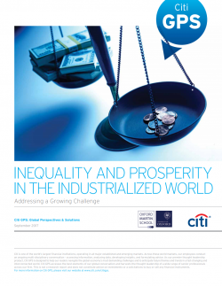 Citi GPS - Inequality and Prosperity