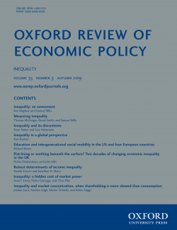 Oxford Reviewof Economic Policy
